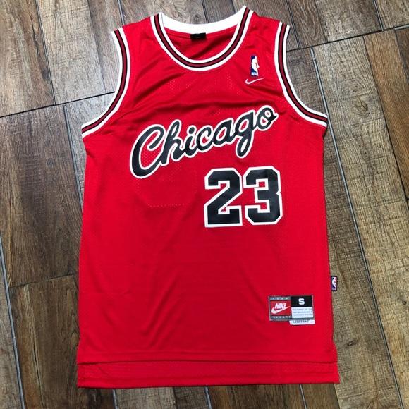 detailing 09e60 2dcc1 Retro Jordan Rookie Script Bulls Jersey Nike